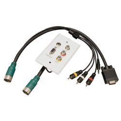 Tripp Lite - EZA-VGACSAX-2 - Tripp Lite Easy Pull Type-A VGA Connector Kit RCA Audio-Composite Video M/F - 2 Pack - HD-15 Male VGA, Mini-phone Male Stereo Audio, RCA Male Audio/Video - DIN Male Audio/Video