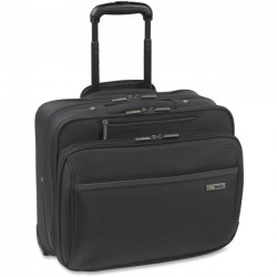 Solo Cases - CLA902-4 - Solo Sterling Carrying Case (Roller) for 16 Notebook - Black - Polyester - Checkpoint Friendly - Handle - 14 Height x 16.3 Width x 7 Depth