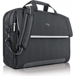 Solo Cases - LVL330-4 - Solo Urban Carrying Case (Briefcase) for 17.3 Notebook, File - Polyester - Shoulder Strap x 16.5 Width x 3 Depth