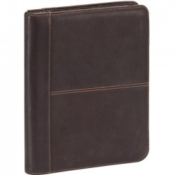 Solo Cases - VTA131-3 - Solo Vintage Leather Padfolio - iPad Friendly- All Generations - Portfolio - Leather - Black