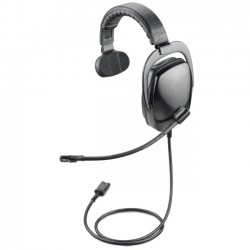 Plantronics - 92082-01 - Plantronics SHR2082-01 Headset - Mono - Black, Gray - Quick Disconnect - Wired - Over-the-head - Monaural - Ear-cup - 3.50 ft Cable - Noise Cancelling Microphone
