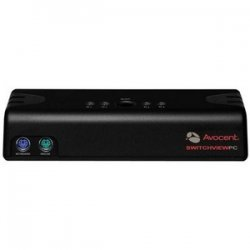 Avocent - 4SV110BND1 - Avocent SwitchView 100 4-Port PS/2 KVM Switch - 4 x 1 - 4 x HD-15