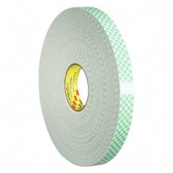 "3M - 4016-3/4 - 3M Scotch Double Coated Foam Tape - 0.75"" Width x 36 ft Length - Urethane - Double-sided - 1 Roll - Off White"