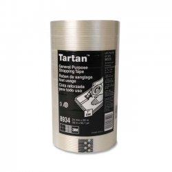 "3M - 8934-24M55 - Scotch Tartan Filament Tape - 0.94"" Width x 60.15 yd Length - 3"" Core - 1 Each"