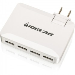 IOGear - GPAW4U4 - IOGEAR GearPower QuadSmart USB 4.2A Wall Charger - 120 V AC, 230 V AC Input Voltage - 5 V DC Output Voltage - 4.20 A Output Current