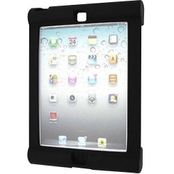 Seal Shield - SBUMPERIA - Seal Shield Silicone Bumper Case for iPad Air Black Antimicrobial - iPad Air - Black - Silicone