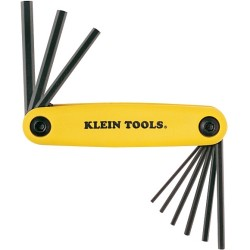 Klein Tools - 70574 - Klein Tools Grip-It Hex-Set - 9 Inch Sizes - Yellow - Alloy Steel, Glass-filled Nylon - 5.28 oz - Heat Treated, Slip Resistant, Comfortable Grip, Impact Resistant