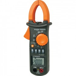 Klein Tools - CL200 - Klein Tools 600A AC Clamp Meter with Temperature - Current Measurement, Voltage Monitor, Temperature Measurement, Frequency Measurement, Capacitance Measurement, Diode Test, Continuity Testing - Coaxial - 3Number of Batteries