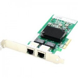 AddOn - 412648-B21-AO - AddOn HP 412648-B21 Comparable 10/100/1000Mbs Dual Open RJ-45 Port 100m PCIe x4 Network Interface Card - 100% compatible and guaranteed to work