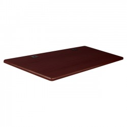 Best-Rite / MooreCo - 90305 - Balt Height-Adjustable Flipper Training Tabletop - Rectangle Top - 60 Table Top Width x 24 Table Top Depth x 1 Table Top Thickness - Assembly Required - Mahogany