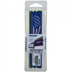 Patriot Memory - PSD32G133381H - Patriot Memory Signature 2GB DDR3 SDRAM Memory Module - 2 GB - DDR3 SDRAM - 1333 MHz DDR3-1333/PC3-10600 - Non-ECC - Unbuffered - 240-pin - DIMM