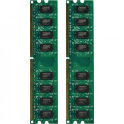 Patriot Memory - PSD24G800KH - Patriot Memory Signature Line 4GB 800 MHz Dual Channel Kit - 4 GB (2 x 2 GB) - DDR2 SDRAM - 800 MHz DDR2-800/PC2-6400 - 1.80 V - Non-ECC - Unbuffered