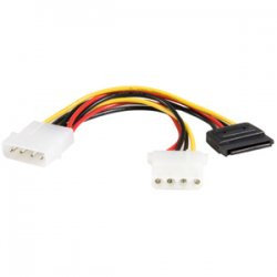 StarTech - PYO1LP4SATA - StarTech.com 6in LP4 to LP4 SATA Power Y Cable Adapter - 6 - LP4 - SATA