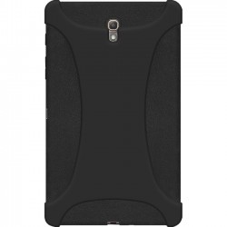Amzer - 97221 - Amzer Silicone Skin Jelly Case - Black for Samsung GALAXY Tab S 8.4 - Tablet - Black - Textured - Silicone, Jelly