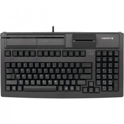Cherry - G80-7040LUVEU-2 - Cherry G80-7040 Series Compact MSR Keyboard - Cable Connectivity - USB 2.0 Interface - 104 Key - English (US) - QWERTY Keys Layout - Mechanical - Black