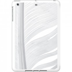 Centon Electronics - IASV1WG-FTR-02 - OTM iPad Air White Glossy Case Feather Collection, Silver - iPad Air - White, Silver - Feather - Glossy