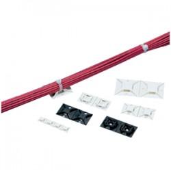 Panduit - ABM2S-A-C0 - Panduit 4-Way Adhesive Backed Cable Tie Mount - Cable Tie Mount - Black