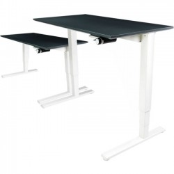 Humanscale - 2448GYF - Humanscale Float Utility Table Top - Rectangle Top - 48 Table Top Width x 24 Table Top Depth - Gray, Laminated