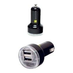 Mizco - IE-PCP2U-BK - iEssentials Dual USB Car Charger - 12 V DC Input Voltage - 5 V DC Output Voltage - 2.10 A Output Current