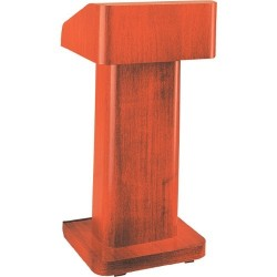 Da-Lite - 74600 - Da-Lite Pedestal Lectern - Pedestal Base - Veneer