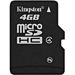 Kingston - SDC4/4GBSP - Kingston 4GB microSD High Capacity (microSDHC) Card - (Class4) - 4 GB