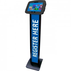 Compulocks Brands - 140B518GEB - Compulocks BrandMe Tablet PC Stand - Up to 12 Screen Support - Floor - Aluminum - Black