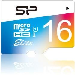 Silicon Power - SP016GBSTHBU1V20 - Silicon Power Elite 16 GB microSDHC - Class 10/UHS-I - 85 MB/s Read - 10 MB/s Write