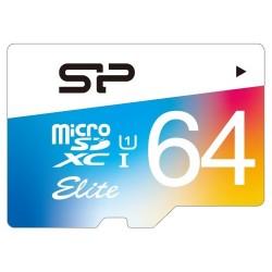 Silicon Power - SP064GBSTXBU1V20 - Silicon Power Elite 64 GB microSDXC - Class 10/UHS-I - 85 MB/s Read - 10 MB/s Write