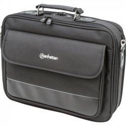 IC Intracom - 421577 - Manhattan Empire II 15.6 Laptop Briefcase, Black - Top Load, Fits Most Widescreens Up To 15.6