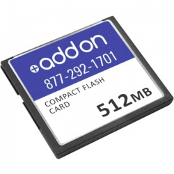 AddOn - AOCISCO/512CF - AddOn Cisco CISCO/512CF Compatible 512MB Factory Original Compact Flash - 100% compatible and guaranteed to work