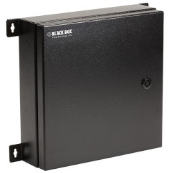Black Box Network - JPM4001A-R2 - Black Box NEMA 4 Rated Fiber Optic Wallmount Enclosure, 2 Adapter Panels - Wall Mountable for LAN Switch, Patch Panel - Steel