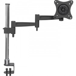 IC Intracom - 423786 - Manhattan Mounting Arm for Flat Panel Display - 13 to 27 Screen Support - 33 lb Load Capacity - Steel, Aluminum - Black