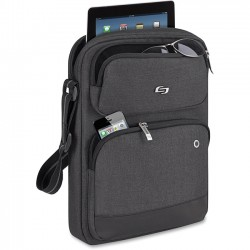 Solo Cases - UBN210-10 - Solo Urban Carrying Case (Sling) for 11 Tablet - Gray - Polyester Body - Shoulder Strap - 13.4 Height x 9.8 Width x 1.8 Depth
