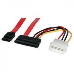 StarTech - SATA18POW - StarTech.com 18in SATA Serial ATA Data and Power Combo Cable - Power - Female SATA - 18