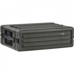 SKB Cases - 1SKB-R3S - SKB Roto-Molded 3U Shallow Rack - Internal Dimensions: 19 Width x 5.25 Height - External Dimensions: 22.4 Width x 16.2 Depth x 7.4 Height - Stackable - Rubber, LLDPE, Steel