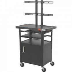 Best-Rite / MooreCo - 27530-M - Best-Rite Height Adjustable Flat Panel TV Cart - 2 Shelf - 100 lb Capacity - 4 Caster Size - Steel - 24 Width x 18 Depth x 62 Height