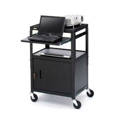 Bretford - CA2642NS-E5 - Bretford CA2642NS-E5 Multipurpose Cart with Cabinet - Black