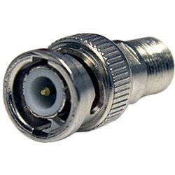 StarTech - BNCCOAXMF - StarTech.com BNC to F Type Coaxial Adapter M/F - 1 x BNC Male Antenna - 1 x F Connector Female Antenna - Silver