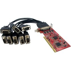 StarTech - PCI8S950LP - StarTech.com 8 Port Low Profile RS232 PCI Serial Card with 16950 UART - PCI-X - 8 x DB-9 Male RS-232 Serial Via Cable - Plug-in Card - DB-9 Male Serial Cable