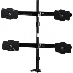 Amer Networks - AMR4P32 - Amer Mounts Grommet Based Quad Monitor Mount for four 24-32 LCD/LED Flat Panel Screens - Supports up to 26.5lb monitors, +/- 20 degree tilt, and VESA 75/100