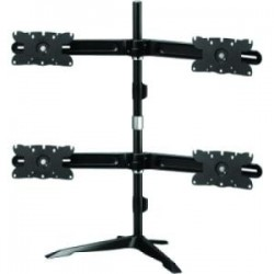 Amer Networks - AMR4S32 - Amer Quad Monitor Stand Mount Max 32 - Up to 32 Screen Support - 105.82 lb Load Capacity - 38 Height x 42 Width x 12.9 Depth - Desktop - Aluminum Alloy, Plastic, Steel