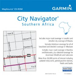 Garmin - 010-10941-50 - Garmin City Navigator Southern Africa Digital Map - Africa - South Africa, Lesotho, Swaziland, Namibia, Botswana - Driving