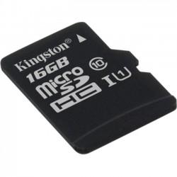 Kingston - SDC10G2/16GBSP - Kingston 16 GB microSDHC - Class 10/UHS-I (U1) - 45 MB/s Read - 10 MB/s Write1 Pack