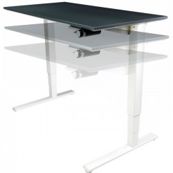 Humanscale - 2466BLF - Humanscale Float Utility Table Top - Rectangle Top - 66 Table Top Width x 24 Table Top Depth - Black, Laminated