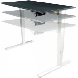Humanscale - 2460BLF - Humanscale Float Utility Table Top - Rectangle Top - 60 Table Top Width x 24 Table Top Depth - Black, Laminated