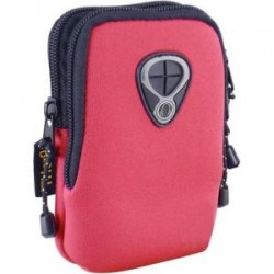 Inland Products - 02520 - Inland Carrying Case for Camera - Red - Wear Resistant Interior, Tear Resistant Interior - Neoprene