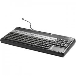Hewlett Packard (HP) - FK218AA#ABA - HP POS Keyboard - 106 Keys - QWERTY Layout - 28 Relegendable Keys - Magnetic Stripe Reader - USB