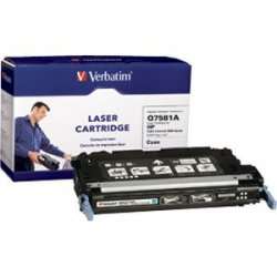 Verbatim / Smartdisk - 95477 - Verbatim Remanufactured Laser Toner Cartridge alternative for HP Q7581A Cyan - Cyan - Laser - 6000 Page - OEM