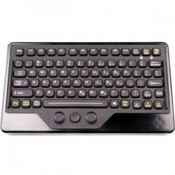 iKey - IK-77-FSR-USB - iKey Compact and Mobile Keyboard - Industrial Silicon Rubber