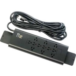 Bretford - E12 - Bretford E12 12-Outlets Power Strip - 12 - 20 ft Cord - Black